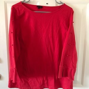 Talbots red long sleeved button shirt size L